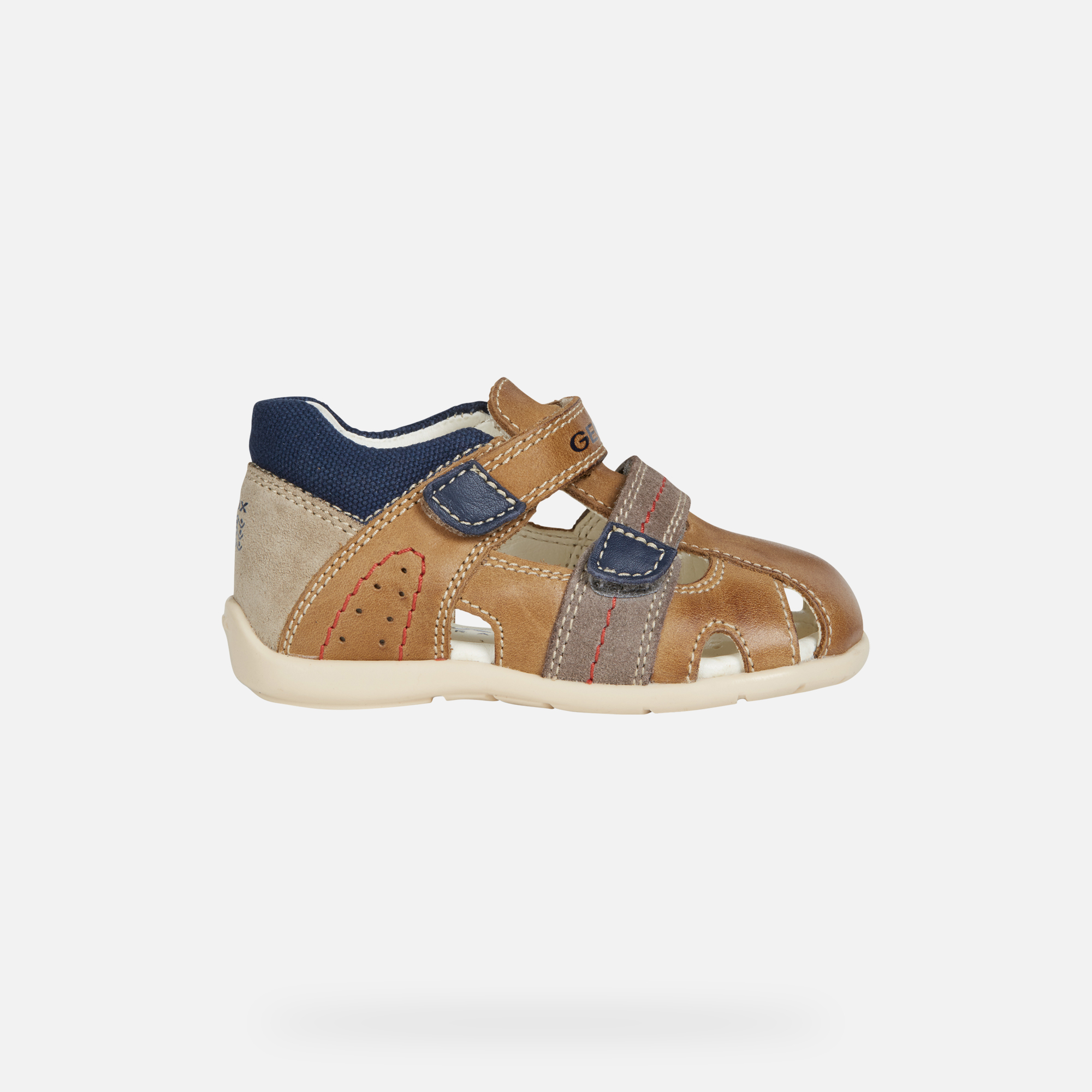 Geox B KAYTAN: Caramel and Brown Baby Boy First Steps Shoes
