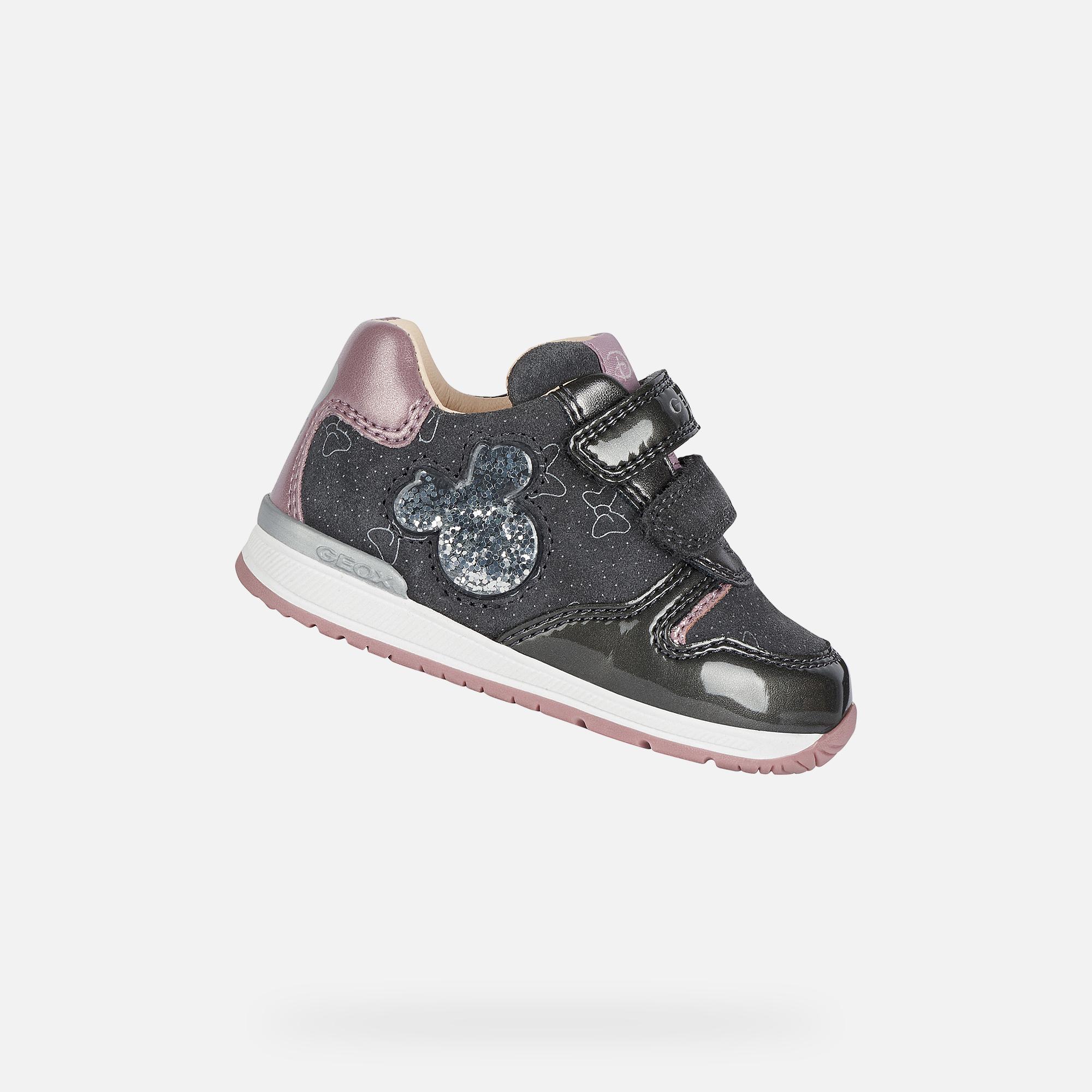 leninismo Acumulativo triatlón  Geox RISHON GIRL Baby Girl: Grey First Steps   Geox X Disney