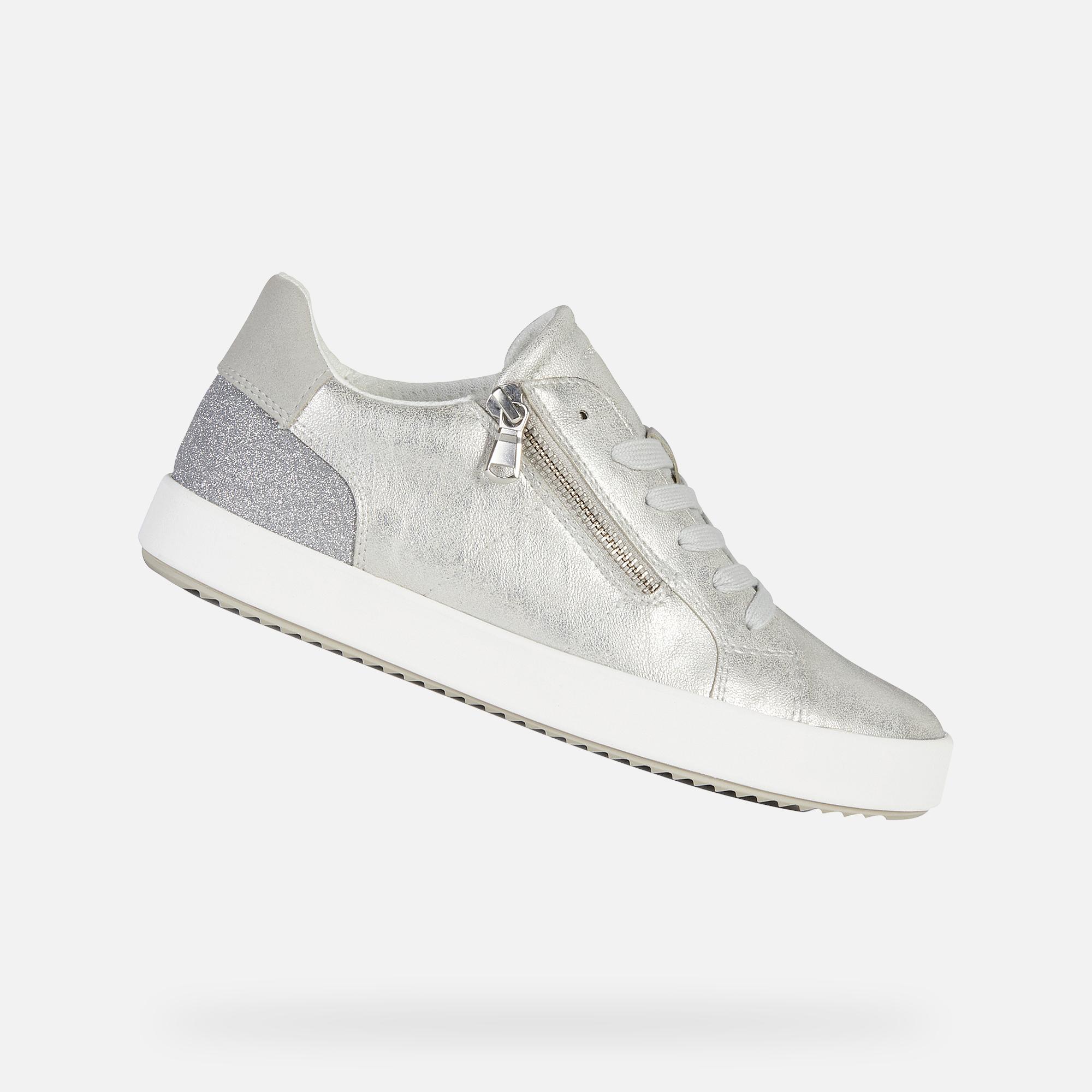Geox BLOMIEE DAME: Silber Sneakers | Geox SS20