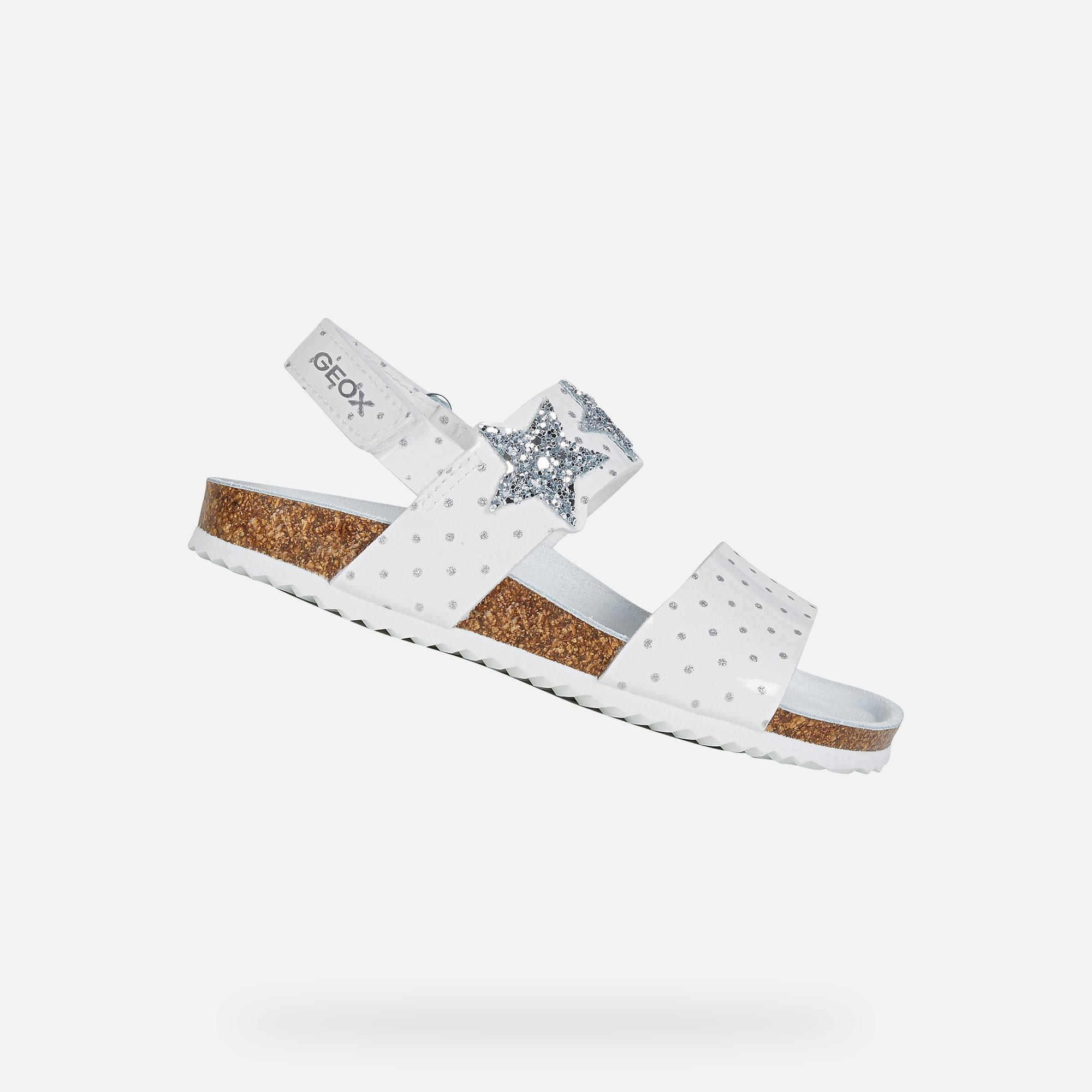 Geox ADRIEL GIRL: Weiß Sandalen   Geox ®