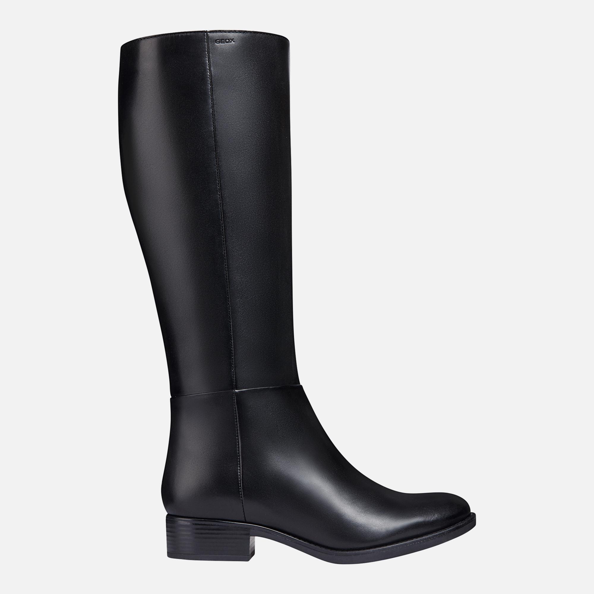 lanzamiento Fuerza motriz Arrepentimiento  Geox FELICITY Woman: Black Boots   Geox® FW20
