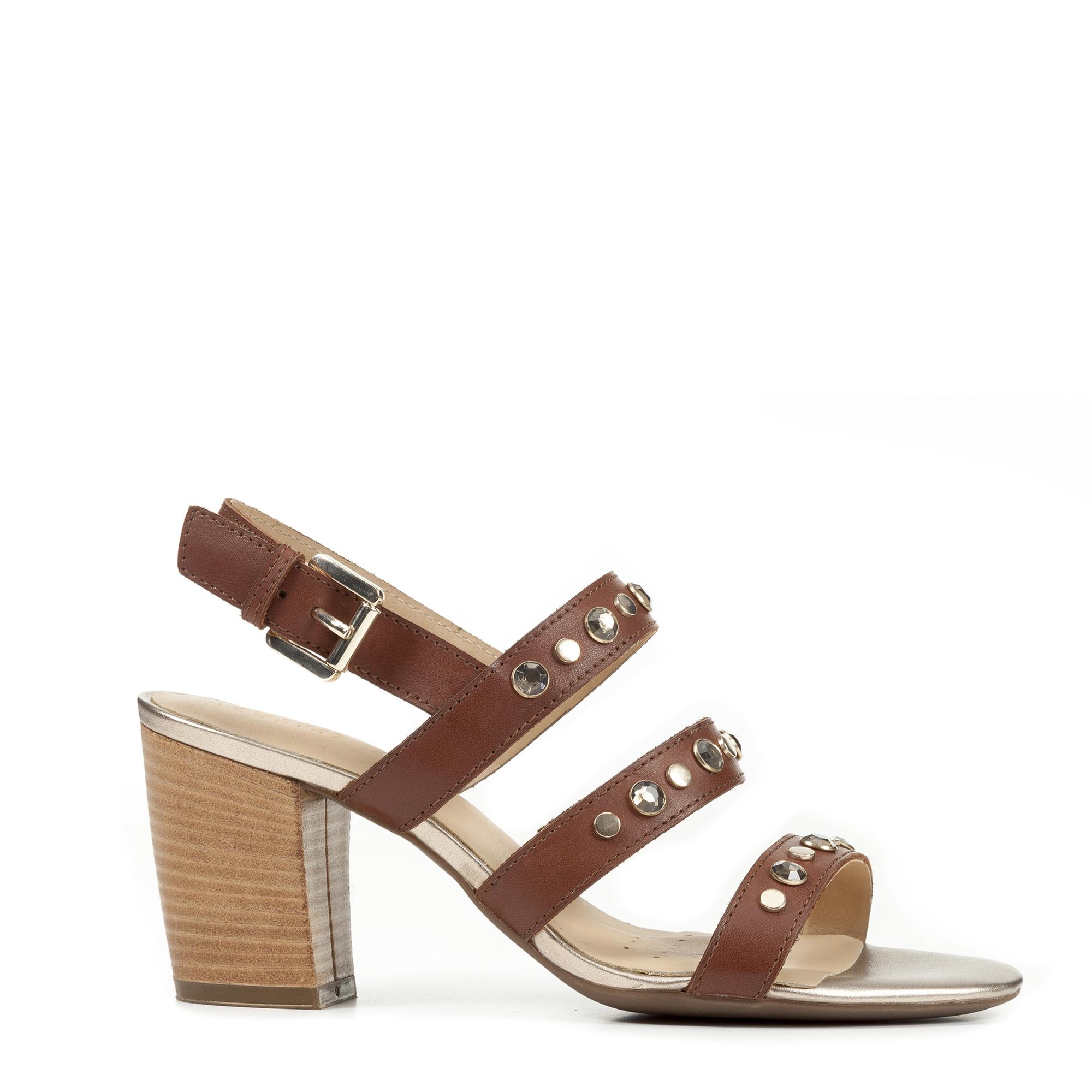 Eudora Woman From Women Geox Tendencies Sandals Footbed 2 Strap Brown 42