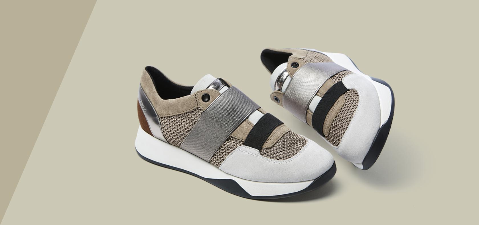 Chaussures Slip Sneakers OnConfortables Respirantes FemmeGeox 4A3Lq5jR